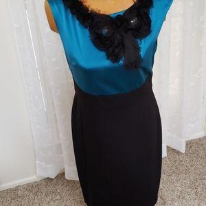 Suzi Chin size 10 silk  new dress